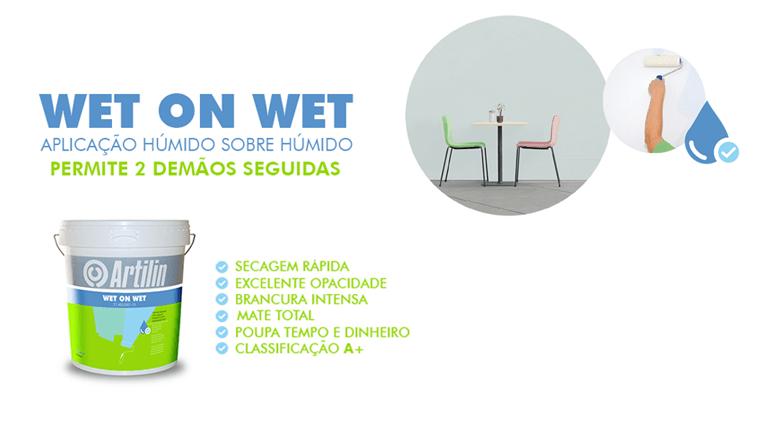 WET ON WET – Aplicação húmido sobre húmido: permite 2 demãos seguidas.